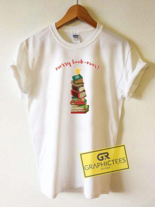 Merry Book Mas Christmas Tee Shirts
