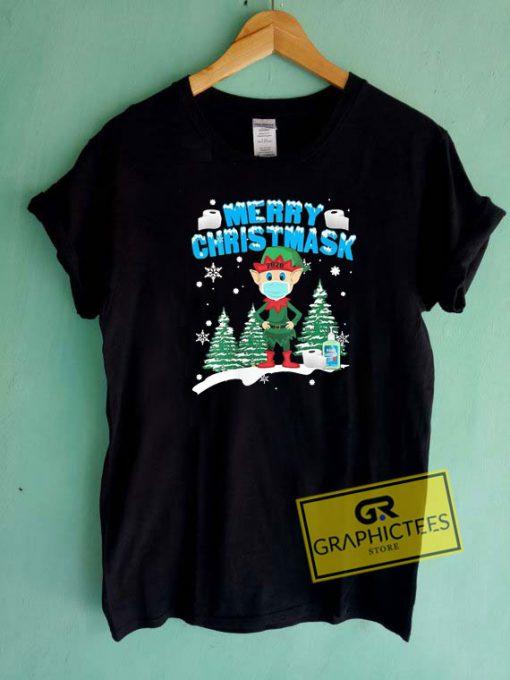 Merry Christmas 2020 Elf Mask Tee Shirts