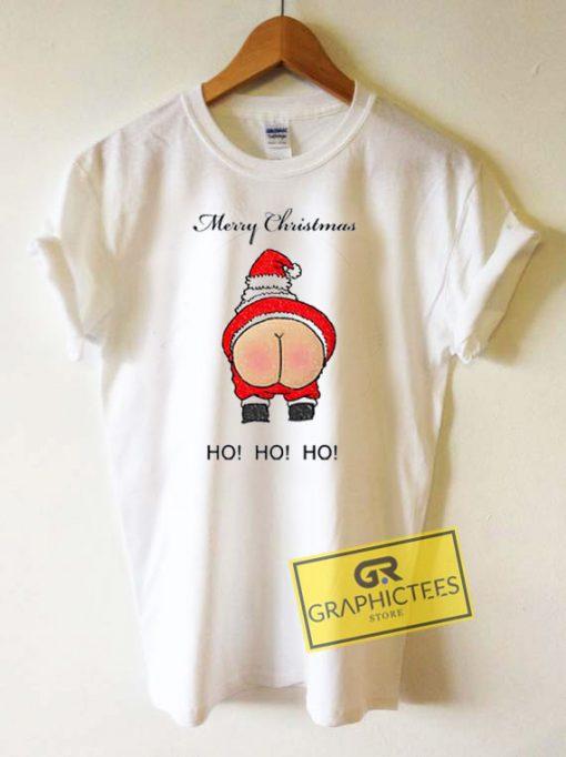 Merry Christmas Butt Santa Tee Shirts