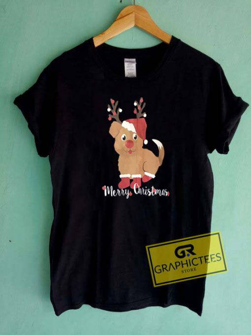 Merry Christmas Puppy Tee Shirts