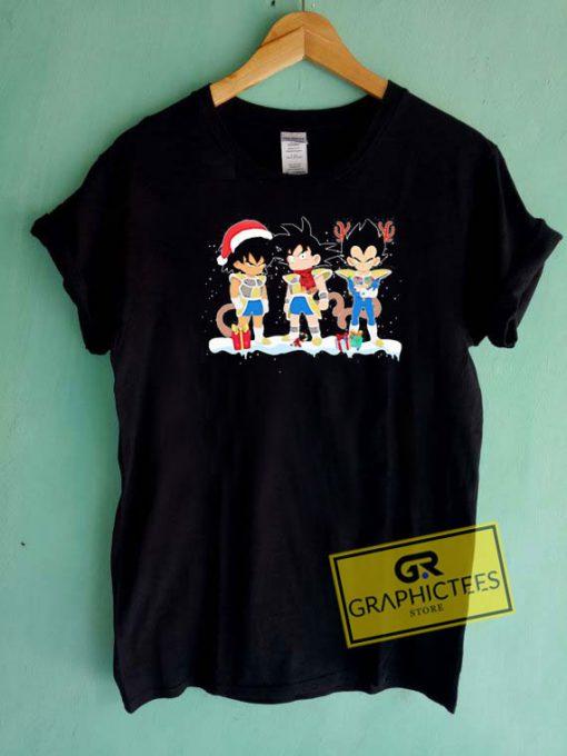 Merry Christmas Songoku Snow Tee Shirts