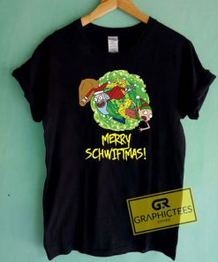 Merry Schwiftmas Rick And Morty Tee Shirts
