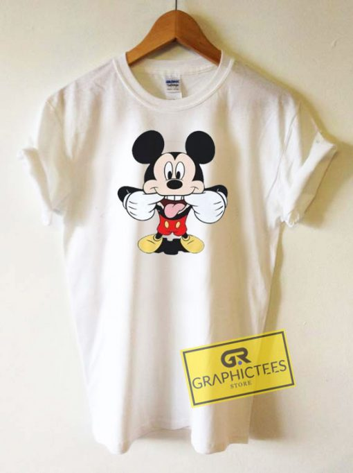 Mickey Mouse Tongue Out Tee Shirts
