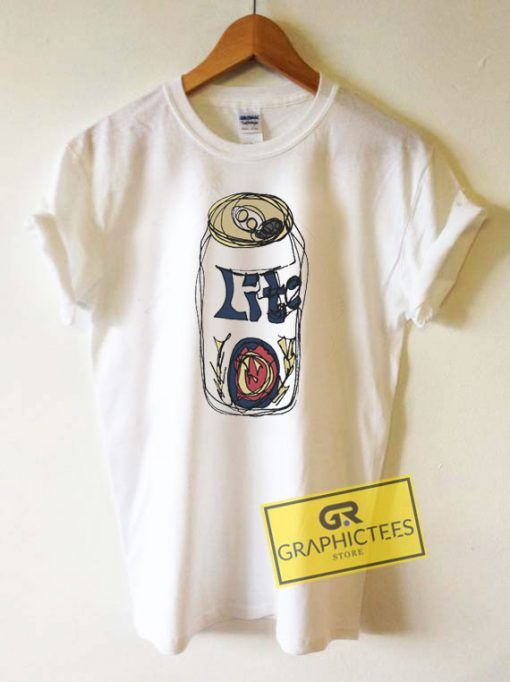 Miller Lite Graphic Tee Shirts