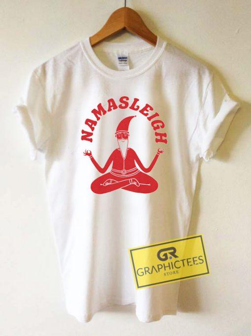Namasleigh Yoga Santa Tee Shirts