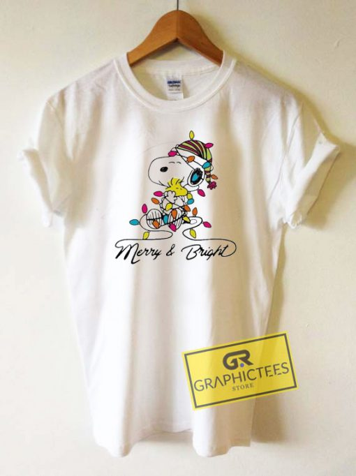 Official Snoopy Merry And Bright Tee Shirts