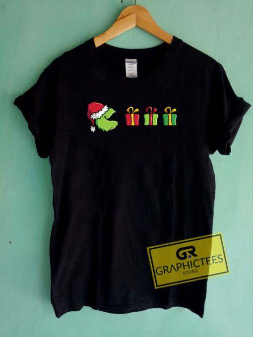 Pacman Grinch Christmas Tee Shirts