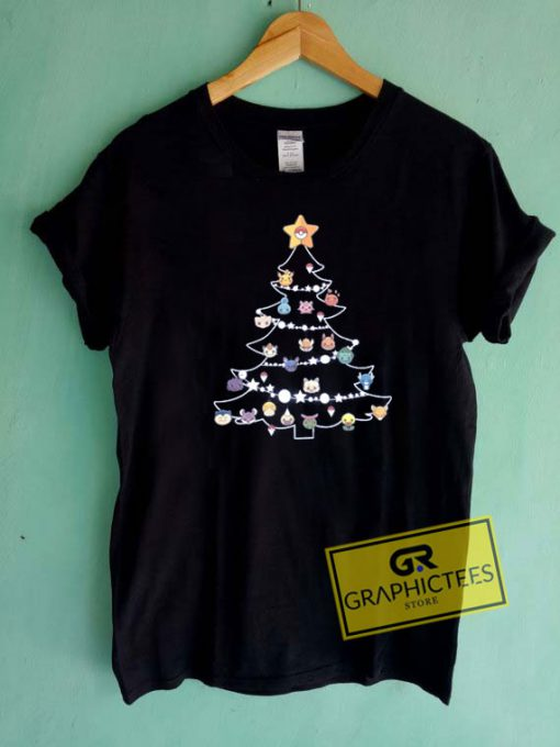 Pokemon Christmas Tree Tee Shirts