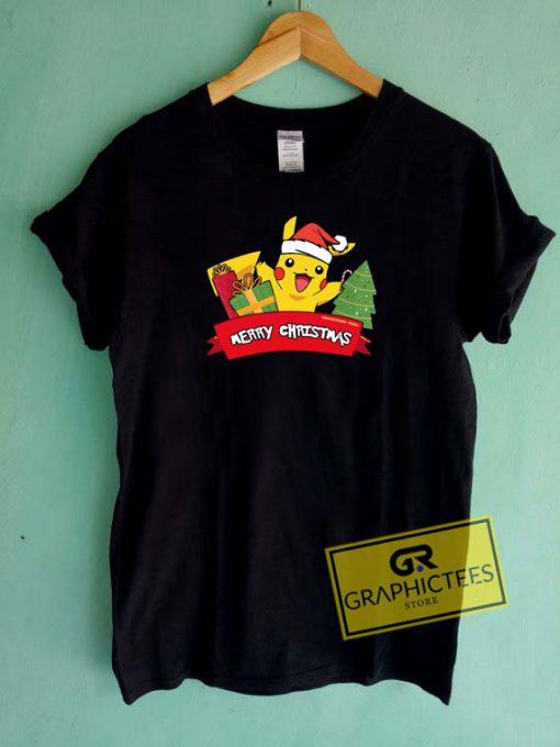 Pokemon Pikachu Xmas Tee Shirts