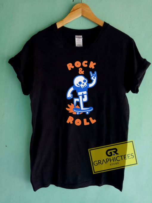 Rock And Roll Skull Tee Shirts