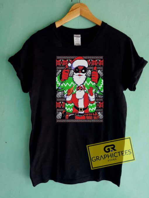 Santa Deadpool Christmas Tee Shirts