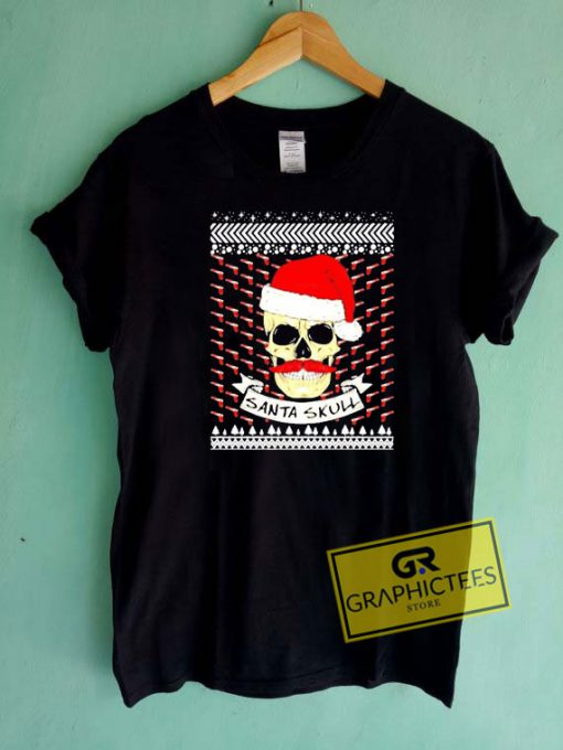 Santa Skull Christmas Graphic Tee Shirts
