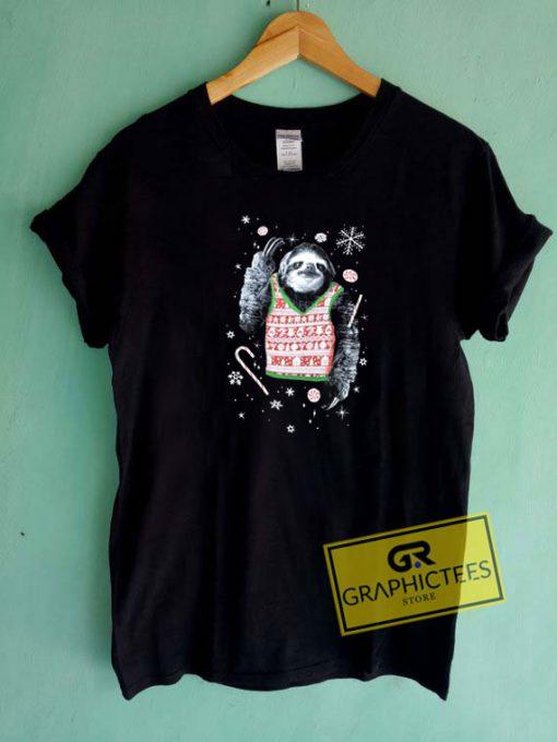 Sloth Christmas Tee Shirts