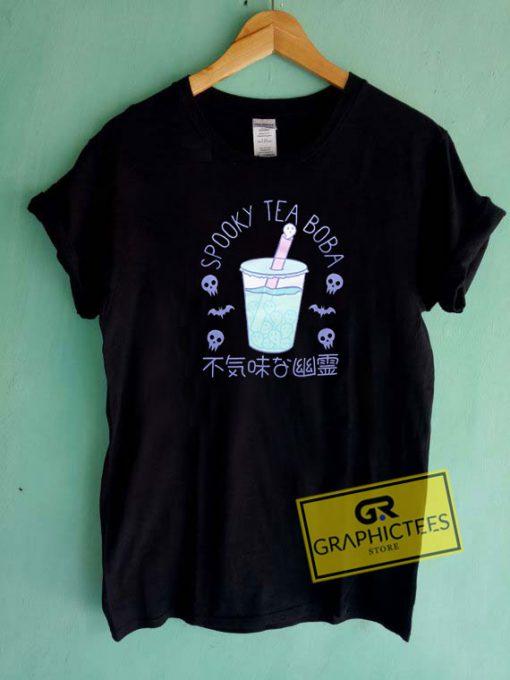 Spooky Tea Boba Girls Tee Shirts