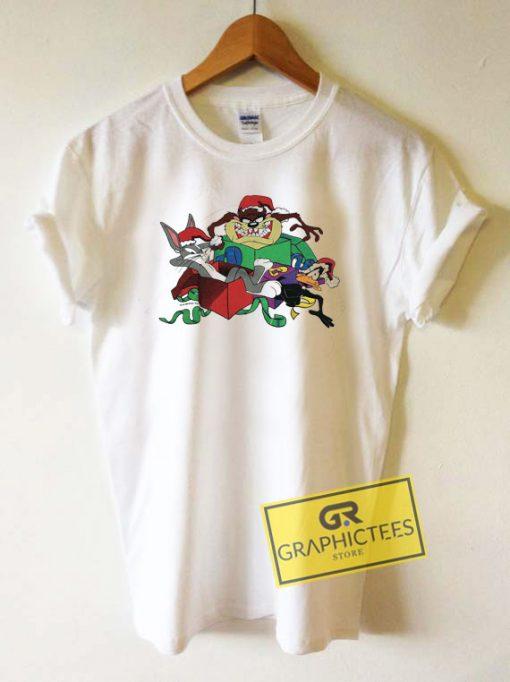 Taz Bugs Bunny Christmas Tee Shirts