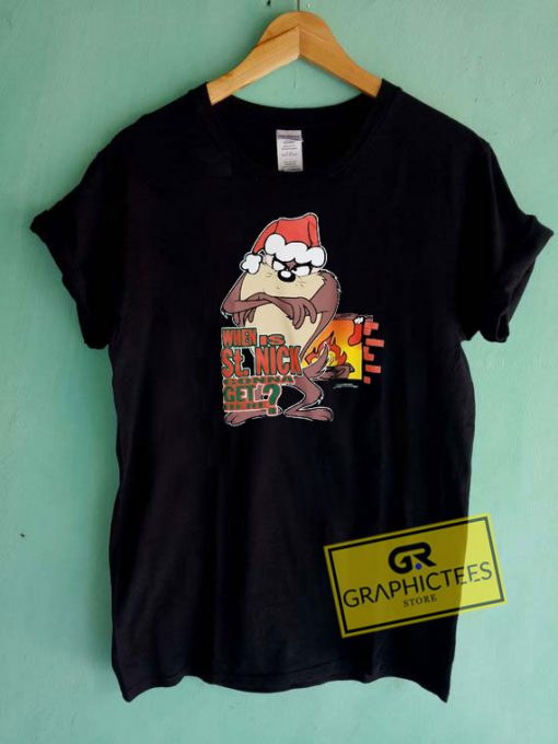 Taz Looney Tunes Christmas Tee Shirts