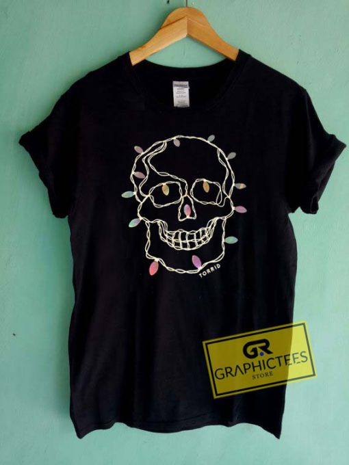 Torrid Christma Lights Skull Tee Shirts