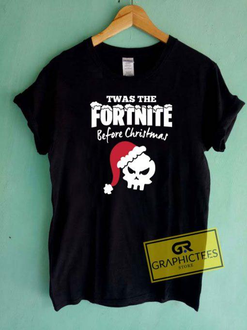 Twas The Fortnite Before Christmas Tee Shirts