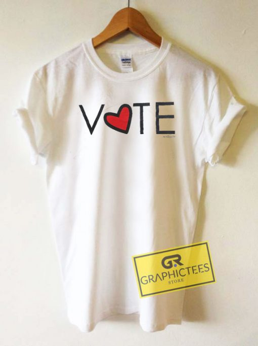 Vote Love Graphic Tee Shirts