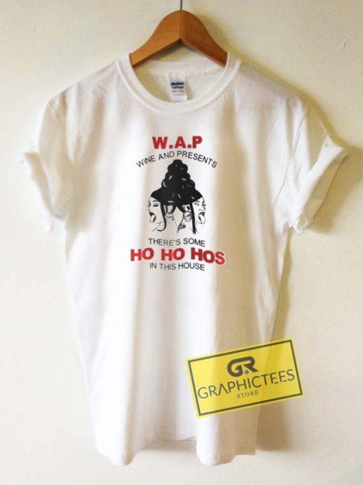Wine And Presents Christmas Tee Shirts