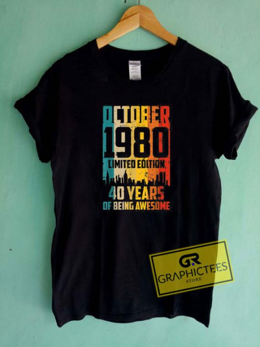 Born In980 October Tee Shirts