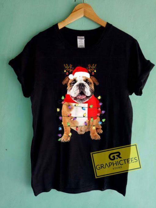 Bulldog Christmas Tee Shirts