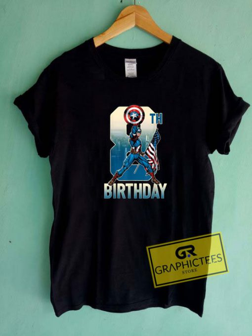 Captain America Birthday Tee Shirts