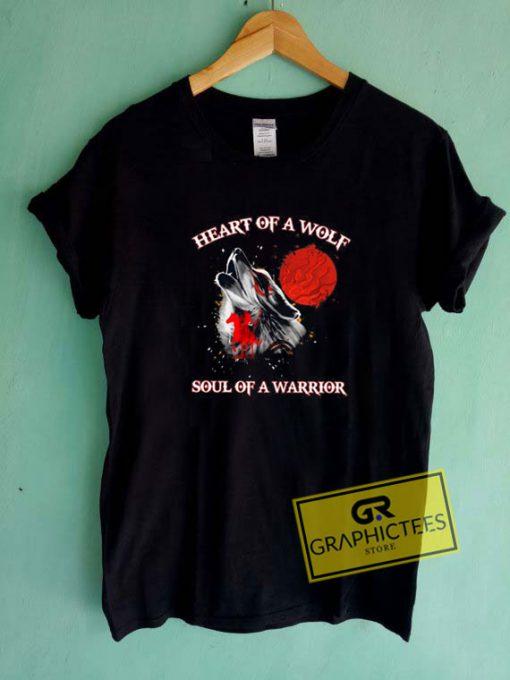 Heart Of Wolf Soul Tee Shirts