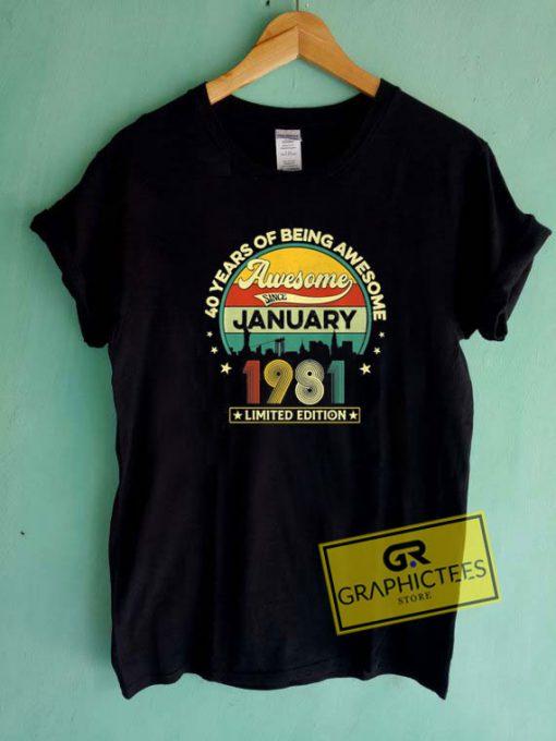 January 1981 Retro Tee Shirts