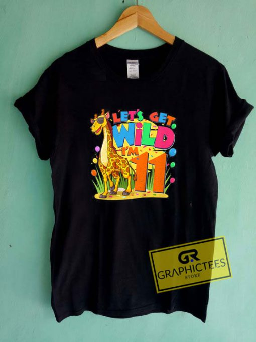 Kids Giraffe Jungle Zoo Tee Shirts
