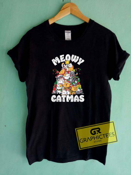 Meowy Catmas Cat Tee Shirts