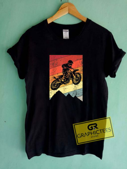 Motocross Bike Vintage Tee Shirts
