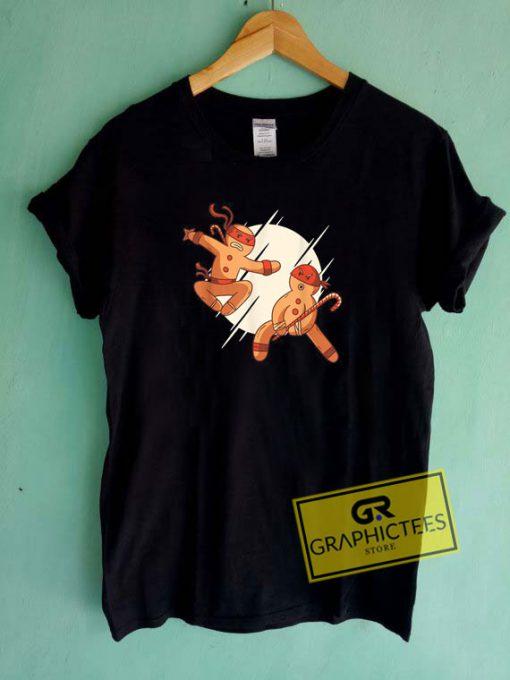 Ninja Bread Man Tee Shirts