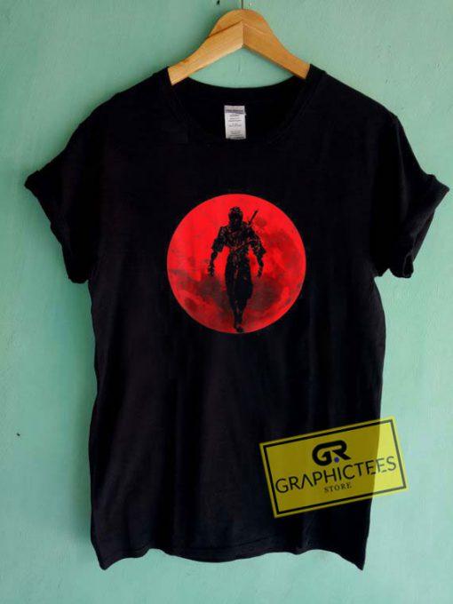 Ninja Figher Red Moon Tee Shirts
