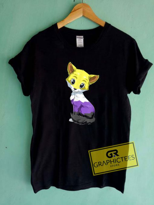 Nonbinary Fox Anime Tee Shirts