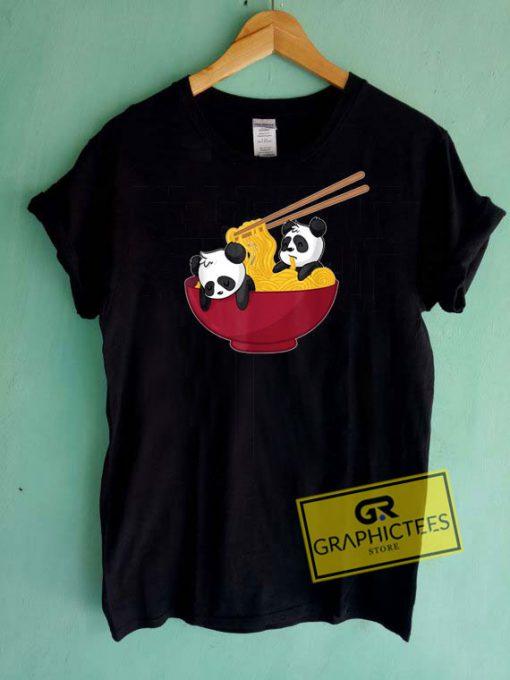Ramen Panda BearTee Shirts