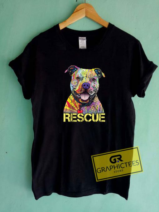 Rescue Dog Colorfull Tee Shirts