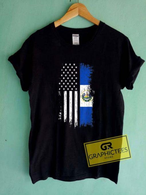 Salvadoran America FlagTee Shirts