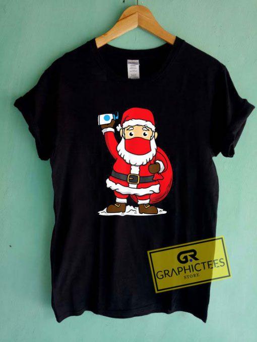 Santa Face Mask ChildrenTee Shirts