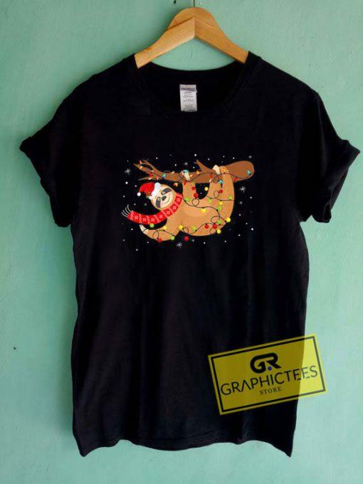 Sloths ChristmasTee Shirts