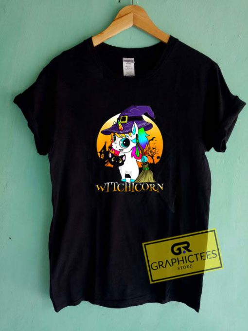 Witchcorn Black Cat Tee Shirts