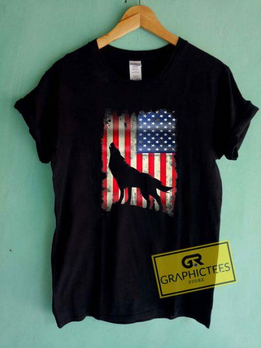 Wolf Usa American Tee Shirts