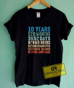 10 Years Old 10th Birthday Tee Shirts