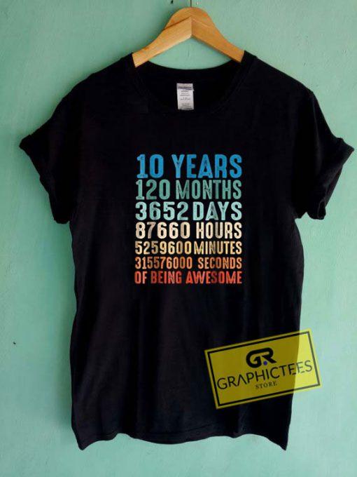 10 Years Old 10th BirthdayTee Shirts