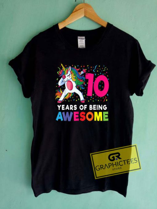 10th Years Of Being Awesome Tee Shirts