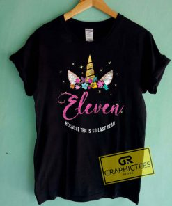 11 Years Old Birthday GirlTee Shirts