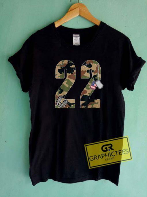 22 A Day VeteranTee Shirts