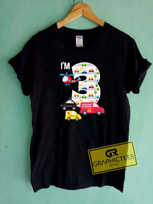 3rd Fire Truck PoliceTee Shirts