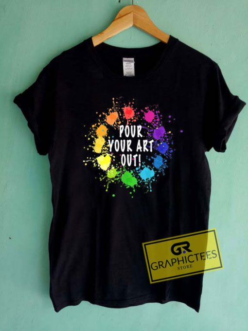 Acrylic Paint Pouring Tee Shirts