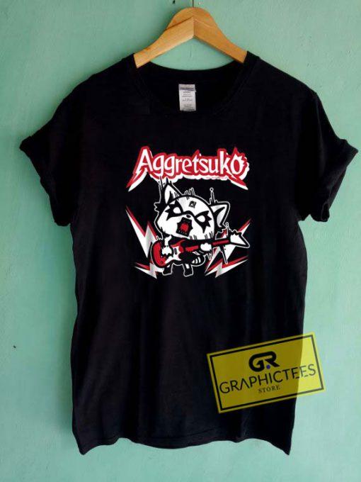 Aggretsuko Rocker RageTee Shirts